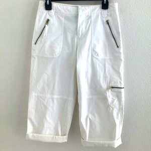 Ralph Lauren Capri Pants Zippers White Size 4